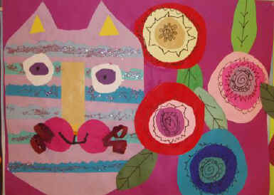Whimsical Collage CAt