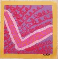 Jasper Johns Inspired Initial