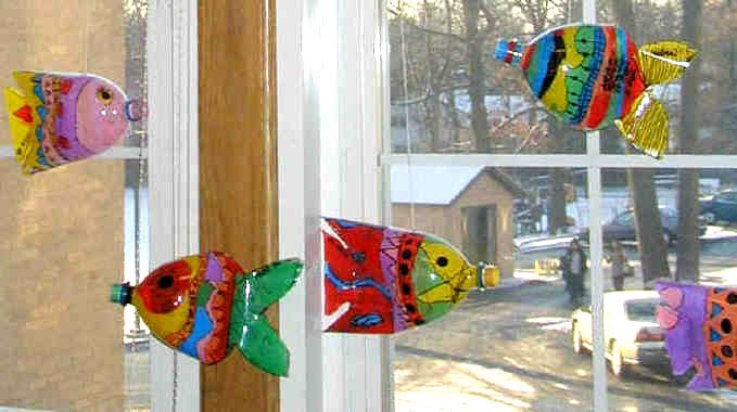 Gone fishing fish lesson plan ideas elementary middle for Recycled products from plastic bottles