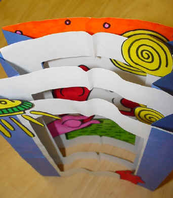 lesson plan pop art tunnel books
