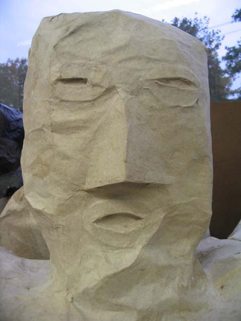 how to make paper mache human figures