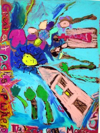 Chagall pastel