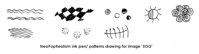 ink patterns for neopoprealist egg