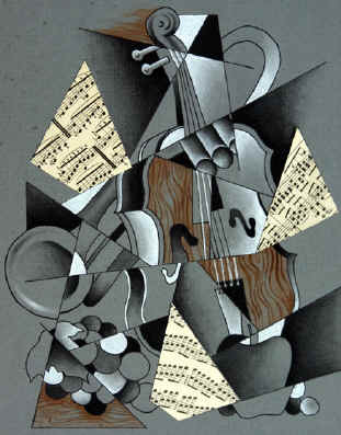cubism still life drawing 5