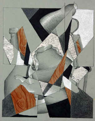 cubism still life drawing 3
