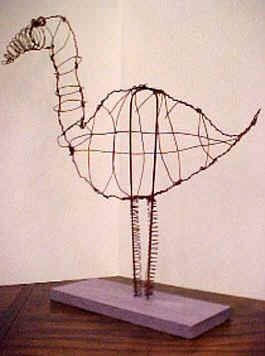 Share On Facebook Wire Sculpture