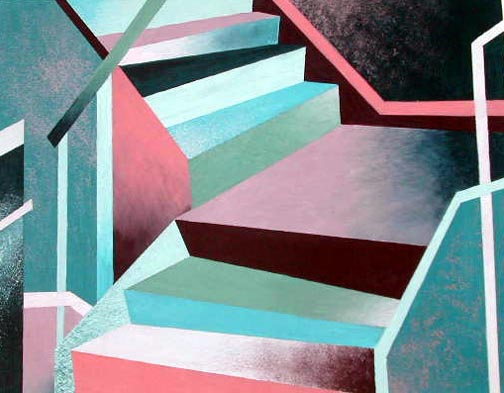 Art Lesson Abstract Architecture Painting