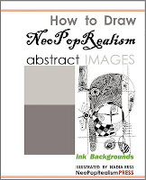 A book 'How to Draw NeoPopRealism Abstract Images: Ink Backgrounds', ISBN: 9780615527437 teaches step-by-step ink and pen pattern drawing.