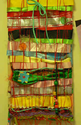 Art Lesson Weaving With Tooled Foil