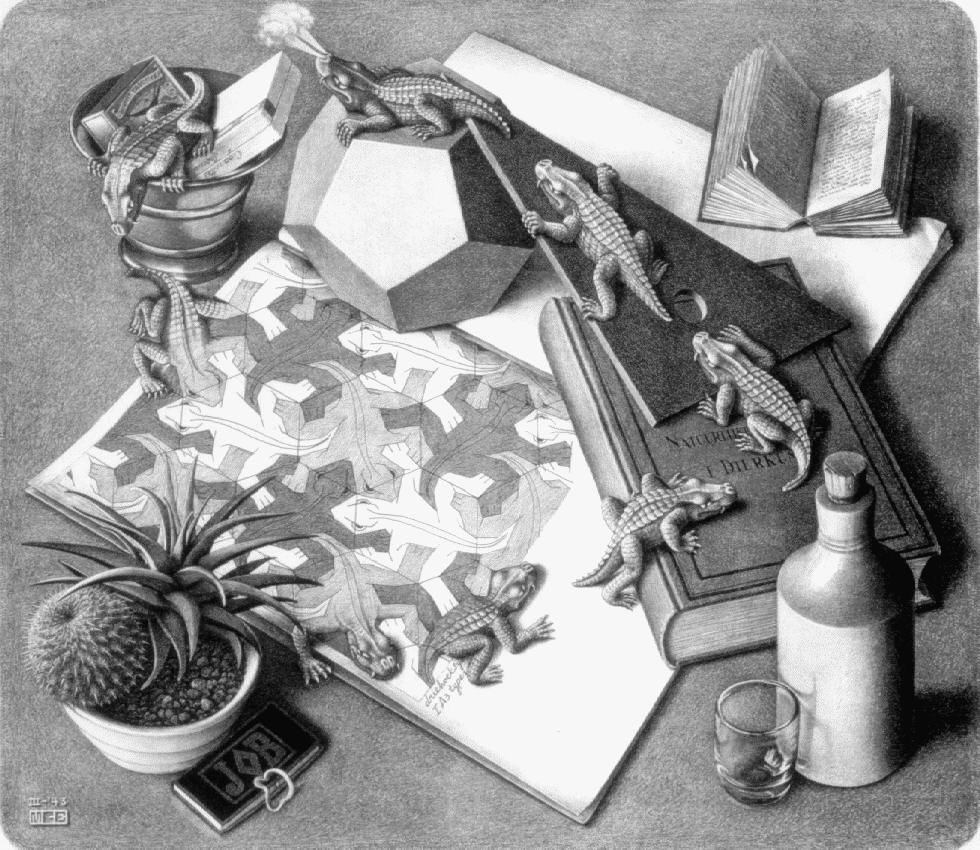 Art Tessellations Everything You Ever Wanted To Know Dilznoofus39s Tessellation Book Escher Pic