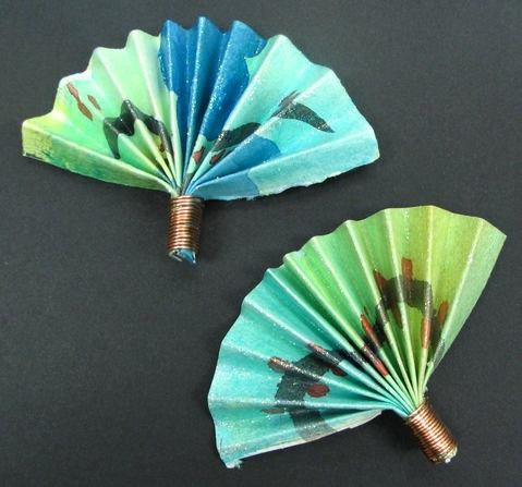 K 12 Art Lesson Paper Fans For Japan