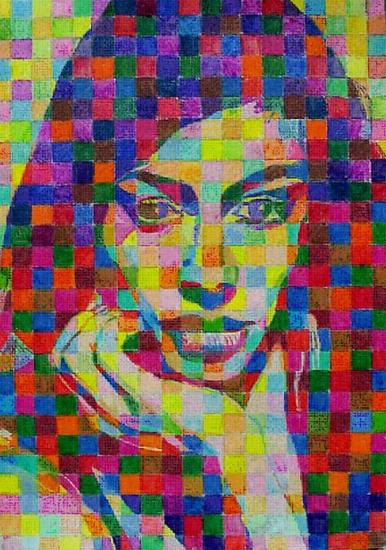 Art Lessons: Chuck Close Grid Drawings