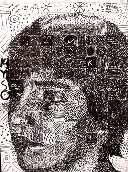 Art Lessons Chuck Close Grid Drawings