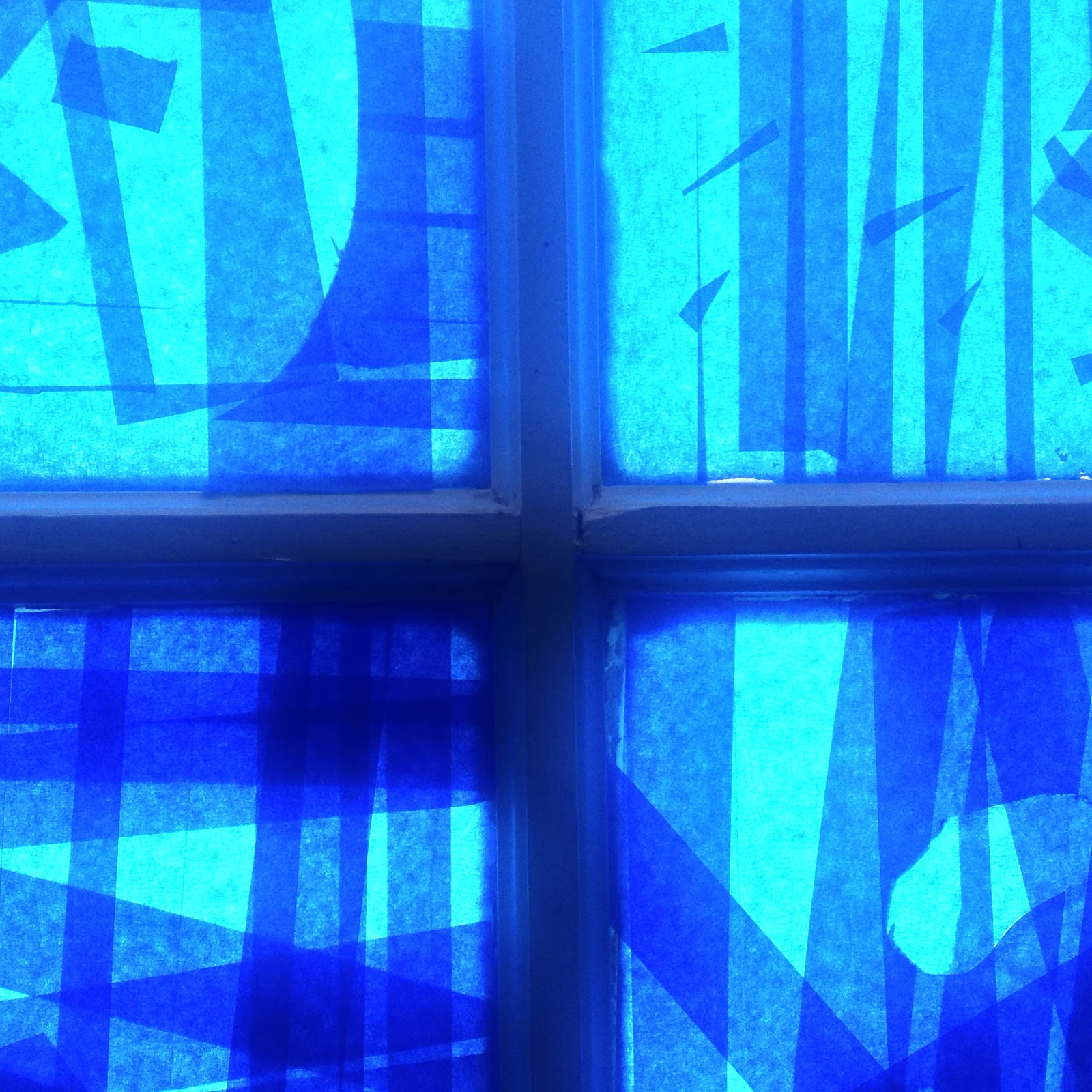 University Of Alabama Law School >> Art Lessons: Blue Tape Window Design