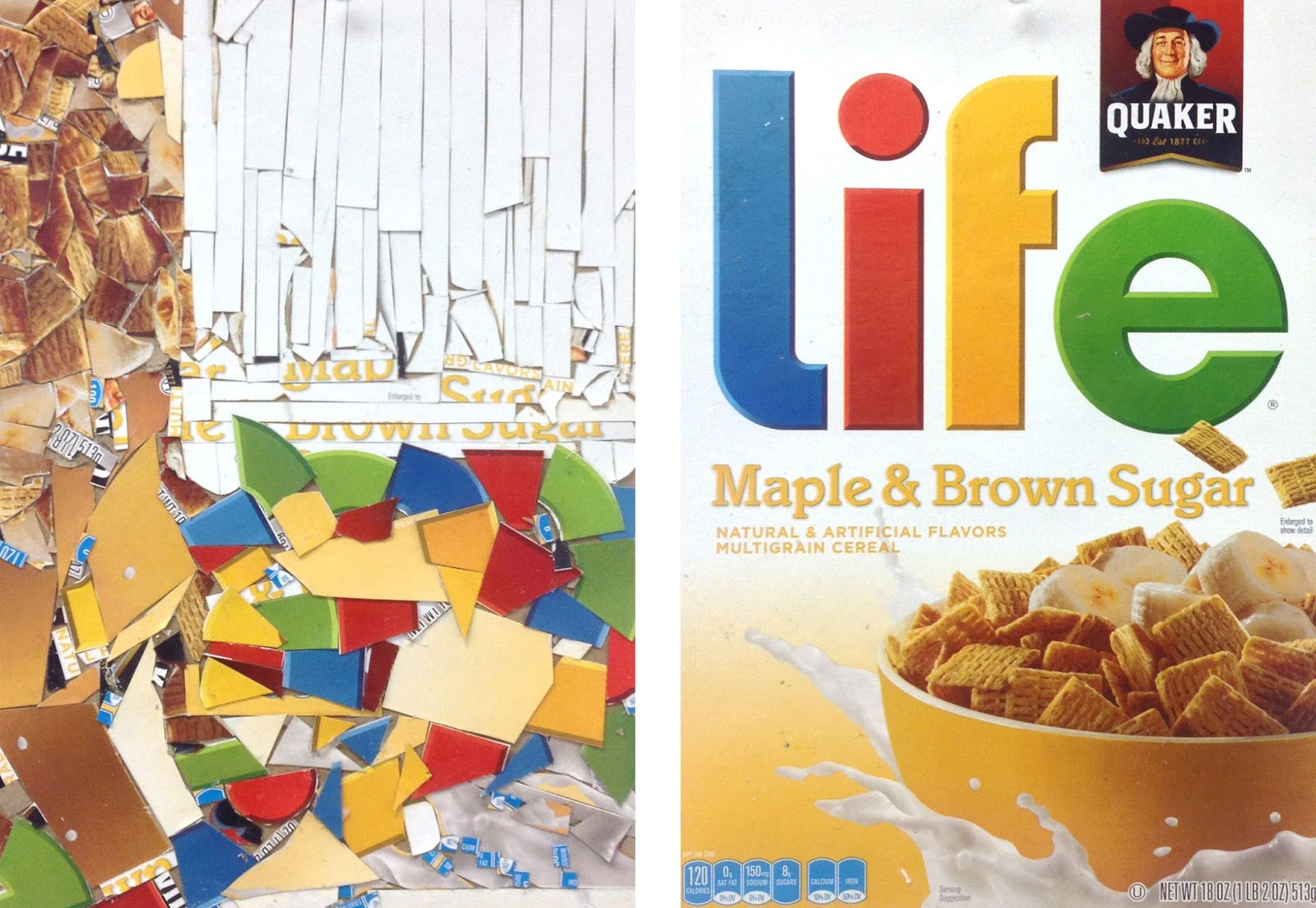 Art Lesson Cereal Box Abstract Design