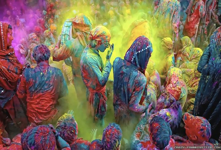 Covered in colors at holi