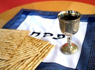 Passover cup and unleavened bread